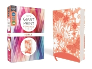 Niv, Giant Print Compact Bible for Girls, Leathersoft, Coral, Red Letter Edition, Comfort Print Cover Image