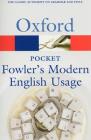 Pocket Fowler's Modern English Usage Cover Image