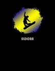 Eldora: Colorado Composition Notebook & Notepad Journal For Snowboarders. 8.5 x 11 Inch Lined College Ruled Note Book With Sof Cover Image