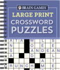 Brain Games - Large Print Crossword Puzzles (Purple) Cover Image