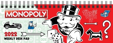 Monopoly 2022 Dated Weekly Desk Pad Cover Image