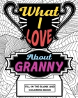 What I Love About Granny Coloring Book Cover Image