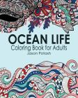 Ocean Life Coloring Book for Adults Cover Image