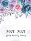 2 Year Daily Weekly Planner: Watercolor Flower Cover - 2020-2021 Daily Weekly Monthly Planner - 24 Months Agenda Planner Jan 2020 - Dec 2021 with H Cover Image