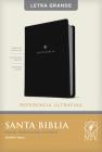 Santa Biblia Ntv, Edición de Referencia Ultrafina, Letra Grande (Letra Roja, Sentipiel, Negro) Cover Image