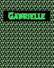 120 Page Handwriting Practice Book with Green Alien Cover Gabrielle: Primary Grades Handwriting Book Cover Image