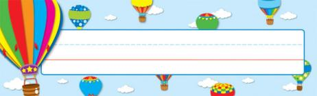 Hot Air Balloons Nameplates Cover Image