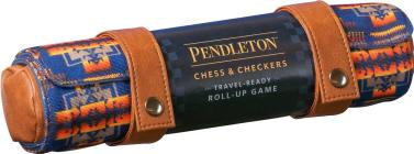 Pendleton Chess & Checkers Set: Travel-Ready Roll-Up Game (Camping Games, Gift for Outdoor Enthusiasts) Cover Image