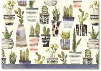 Note Card Watercolor Succulents Cover Image