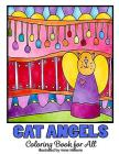 Cat Angels Coloring Book for All Cover Image