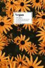 Vegan: floral definition notebook Cover Image