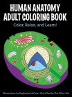 Human Anatomy Adult Coloring  Book Cover Image
