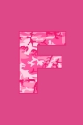 F: Writing Journal Diary for Active Duty or Deployed Military Service Member with Pink Camouflage Camo Initial. 6