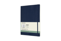 Moleskine 2021 Weekly Planner, 12M, Extra Large, Sapphire Blue, Soft Cover (7.5 x 9.75) Cover Image