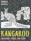 Mandala Coloring pages for Kids - Animals - Kangaroo Cover Image