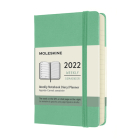 Moleskine 2022 Weekly Planner, 12M, Pocket, Ice Green, Hard Cover (3.5 x 5.5) Cover Image