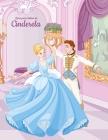 Livro para Colorir de Cinderela Cover Image