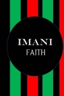 Imani Faith: Color Pages Guided Prompt Lined Journal Affirmations Thoughts Gratitude New Year Visions 7-Days Celebration Cover Image