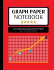 5x5 Graph Ruled Composition Notebook: 100 Pages, 5x5 Graphing Grid Paper, Red (Extra Large, 8.5x11 in.) Cover Image