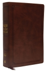 NKJV Study Bible, Imitation Leather, Brown, Red Letter Edition, Comfort Print: The Complete Resource for Studying God's Word Cover Image