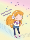 Song Writing Notebook: Cute Music Composition Manuscript Paper for Girls, Large 100 pages, Note and Lyrics writing Staff Paper for Kids, Litt Cover Image