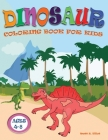 Dinosaur Coloring Book for Kids: Great Gift for Boys & Girls Ages 4-8, with Cute Epic Prehistoric Animals scenes and cool graphics. Cover Image