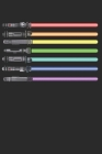 LGBT Lightsabers Swords Notebook: LGBT Pride Gay Lesbian Bisexual Transsexual Rainbow Proud Flag Colors Light Community Free Love Respect Equality Gif Cover Image