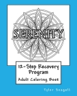 12-Step Recovery Program Adult Coloring Book Cover Image