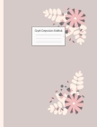 Graph Composition Notebook: Grid Paper Notebook: Large Size 8.5x11 Inches, 110 pages. Notebook Journal: Candy Shaped Flowers Workbook for Preschoo Cover Image