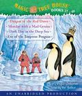 Magic Tree House Collection: Books 37-40: Dragon of the Red Dawn; Monday with a Mad Genius; Dark Day in the Deep Sea; Eve of the Emperor Penguin (Magic Tree House (R) Merlin Mission) Cover Image