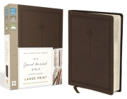 NIV, Journal the Word Bible, Large Print, Imitation Leather, Brown: Reflect, Journal, or Create Art Next to Your Favorite Verses Cover Image