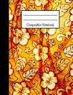 Composition Notebook: Old Vintage Yellow Flower Floral Design Large Notebook Cover Image
