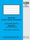 Reverse Graph Paper Notebook: 0.5 Inch (1/2 in) Squares; 8.5