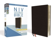 NIV, Thinline Bible, Giant Print, Bonded Leather, Black, Red Letter Edition Cover Image