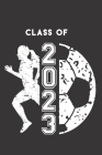 Class of 2023: Female Soccer Player & Ball Blank Notebook Graduation 2023 & Gift Cover Image