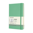 Moleskine 2022 Weekly Planner, 12M, Large, Ice Green, Hard Cover (5 x 8.25) Cover Image