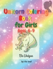 Unicorn Coloring Book for Girls Cover Image
