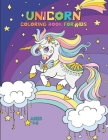 Unicorn Coloring Book for Kids Ages 4-8 Cover Image