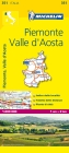 Michelin Map Italy: Piemonte, Valle d'Aosta 351 (Michelin Maps #351) Cover Image