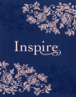 Inspire Bible NLT (Hardcover Leatherlike, Navy): The Bible for Coloring & Creative Journaling Cover Image