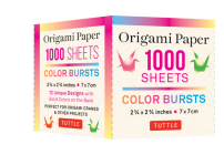 Origami Paper Color Burst 1,000 Sheets 2 3/4 in (7 CM): Double-Sided Origami Sheets Printed with 12 Unique Radial Patterns (Instructions for Origami C Cover Image
