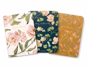 Gracelaced Lined Notebooks, Set of 3, Rejoice, Pray, Give Cover Image