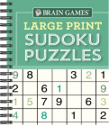 Brain Games - Large Print Sudoku Puzzles (Green) Cover Image