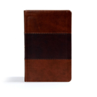 CSB Ultrathin Reference Bible, Saddle Brown LeatherTouch Cover Image