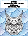 Mandala Coloring Thick paper - Animal - Lynx Cover Image