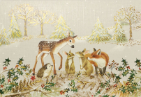Furry Friends Small Boxed Holiday Cards Cover Image