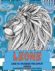 Libri da colorare per adulti - Rilassamento e sollievo dallo stress - Animale - Leone Cover Image