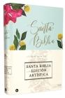 Reina Valera 1960 Santa Biblia Edición Artística, Tapa Dura/Tela, Floral, Canto Con Diseño, Letra Roja Cover Image