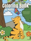 Easy Large Print Coloring Book for Adults: Simple Designs for Beginners and Teens through Seniors featuring Animals, Nature, Flowers, Farm and Country Cover Image