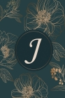 J: Initial Monogram Notebook, Monogram Journal, Initial Notepad, 100 Pages Cover Image